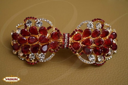 Ruby Stone Hair CLips