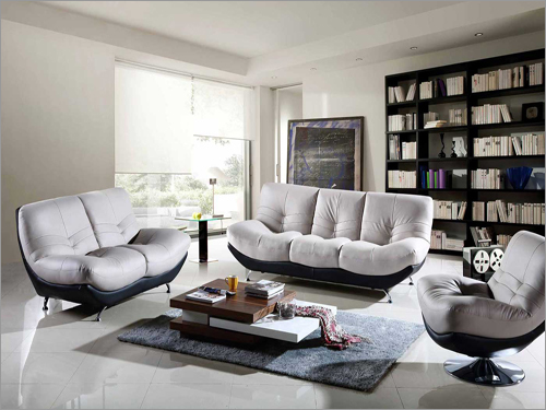 Poly Filled Sofa With Steel Legs