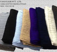 Cable Knitted Shawls