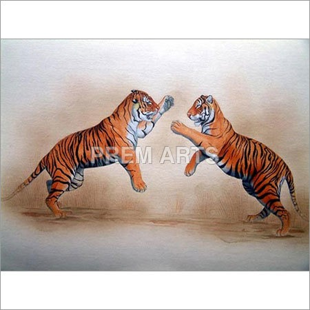 Animals Paper Painting