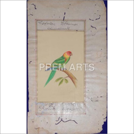Love Bird Paper Painting