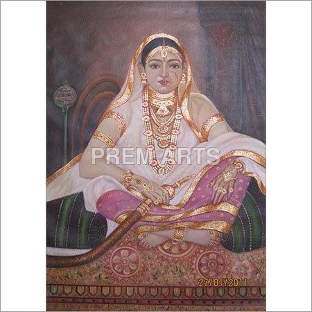 Lady Potrait Oil Painting on Canvas