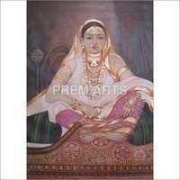 Lady Portrait Oil Painting On Canvas