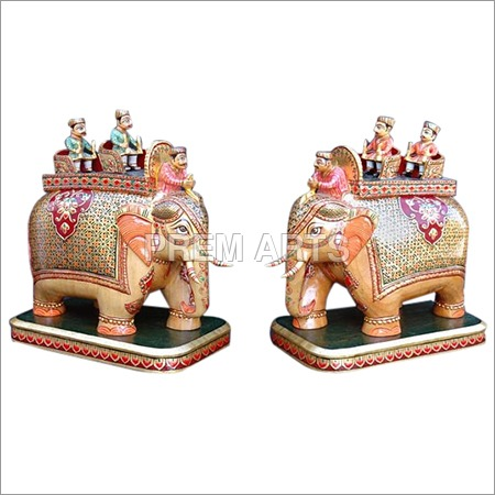 Wood Craft - Ambabari Elephant Pair