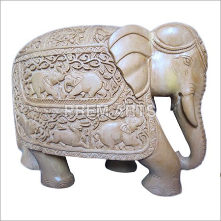 Wood Craft - Elephant Statue