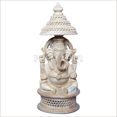Wood Craft - Lord Ganesha Statue
