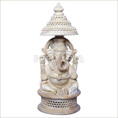 Wood Craft - Lord Ganesha Statue