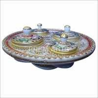 Marble Dry Fruit Container