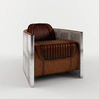 Full Grain Leather Aviation Chair