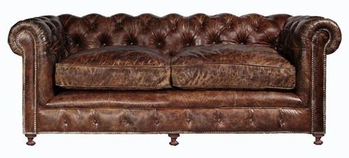 Handmade vintage look love seat chesterfield Sofa