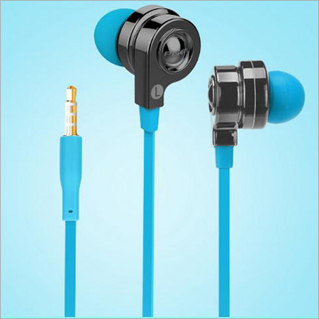 Blue Earphones without Mic