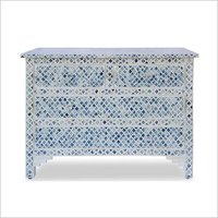 Bone Inlay Dyed Morraco Pettern 4 drawer