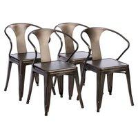 Chrome Finish Metal Chair