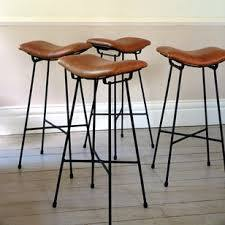 Leather Top Bar Stool