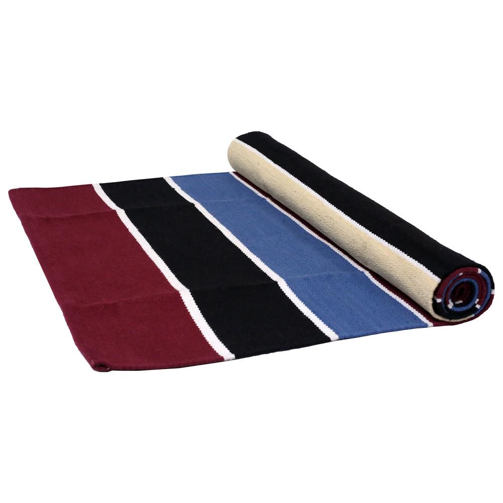 Yoga Rug/ Mat Stripe Pattern