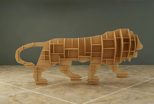 MAKE IN INDIA WOODEN LION-01