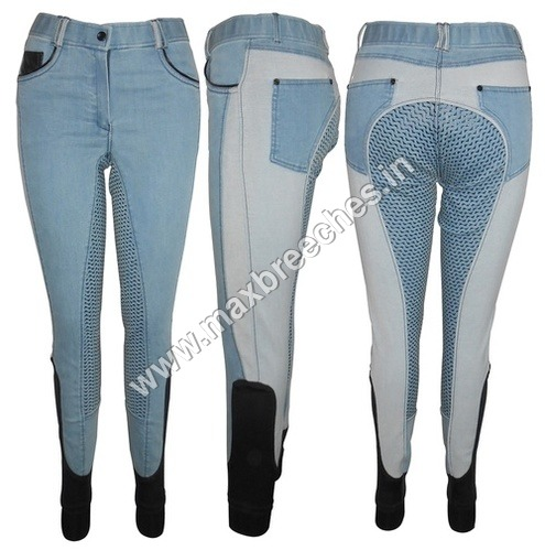 Denim Silicon Full Seat Breech