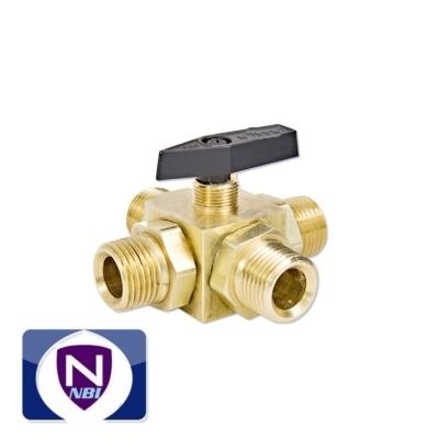 Brass 4 Way Water Heater Bypass Valve