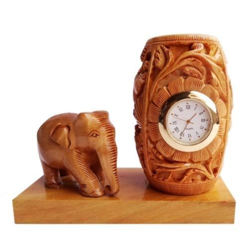 Elephant Statue with Clock