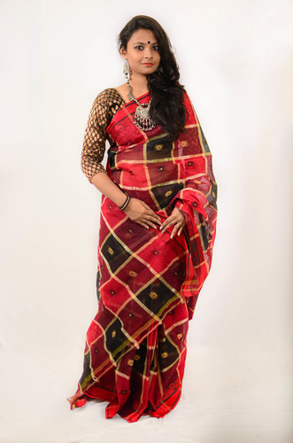 Ayna Check Saree