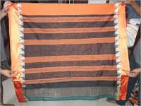 Black and Orange Half Saree