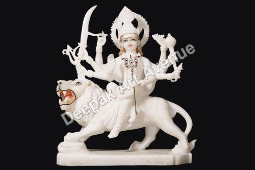 Marble Durga Devi Statue