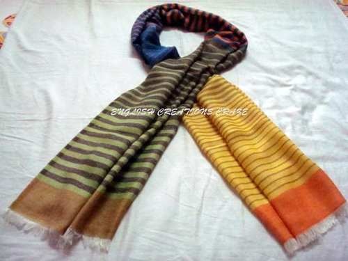 Wool Silk Melange Stripes Scarves