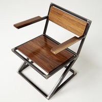 Wooden Backrest,Seat &Armchair Industrial Dining Chair
