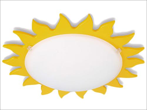 Bright Yellow Sunburst Philips Ceiling Lamp