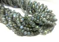 LABRADORITE SMOOTH 3-4 mm BEADS-13 INCH LONG STRAND