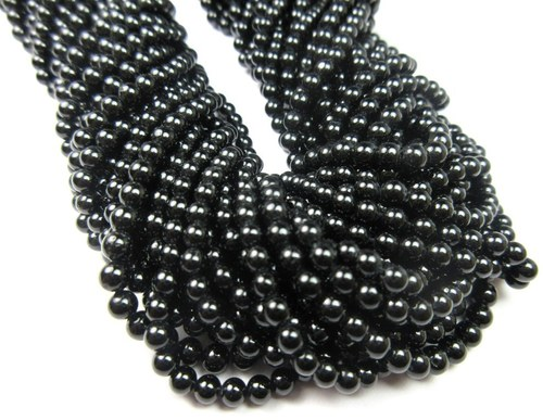 Black Onyx 3-4 mm Beads-13 Inch Long Strand