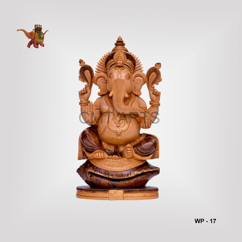 Wooden Antique Finish Ganesha