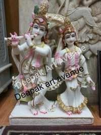 Radha Rani Marble Statue