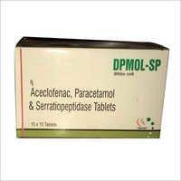 Aceclofenac Paracetamol Serratiopeptidase Tablets
