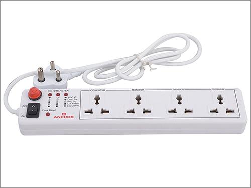 4 Way Socket with Single Switch