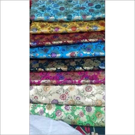 Floral Printed Kimkhab Fabric