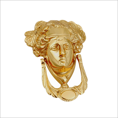 Brass Door Knocker 5 Inches Gold Finish Lady