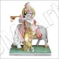 White Marble Kishana Statue