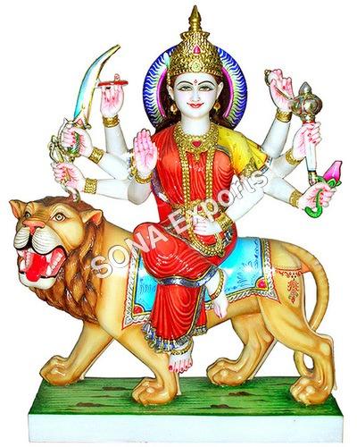 White makrana Marble Durga Davi Statue