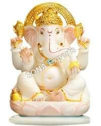 Marble Baby Ganesha  Statue