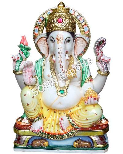 Marble Ganesha Murti From Jaipur