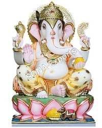 Marble Ganesha Murti For Pooja