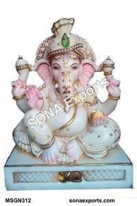 Marble Ganesha Statue From India
