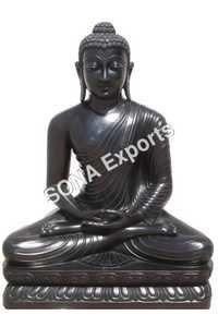 Black Marble Buddha Statues