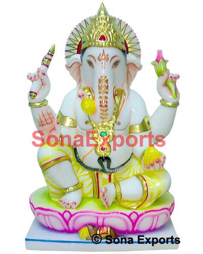 White Marble Ganesha Sculpture
