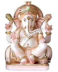 Pure white Marble Ganesha Statue