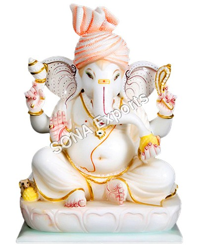 Marble Ganpati Statue Murti