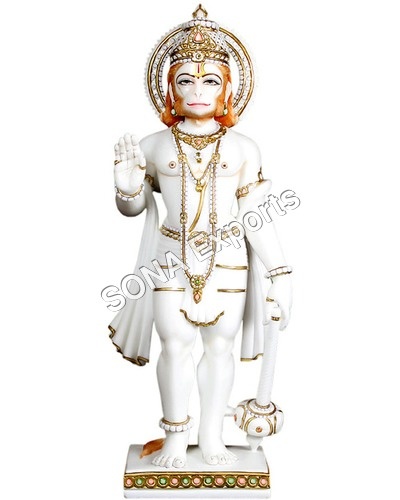 Marble Hanuman Standing Statue