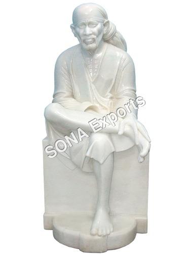 White marble Saibaba Murti