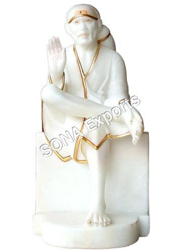 Pure white marble Saibaba